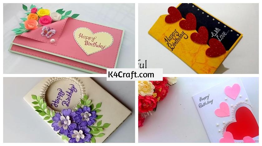 Diy Easy Birthday Card Ideas With Video Tutorials K4 Craft