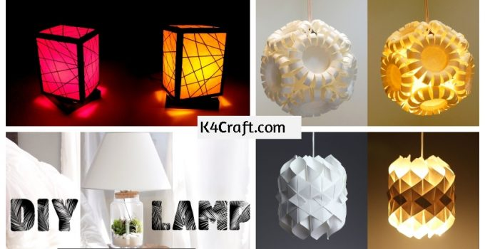 DIY Lamp Ideas to Light Up Your Decor -Lamp DIYs