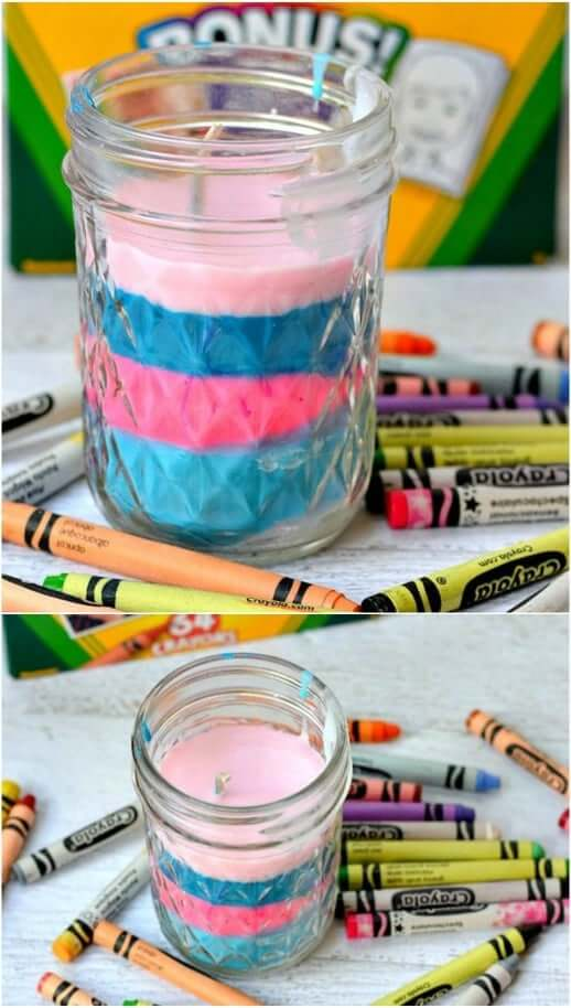 DIY Crayon Candles Easy Mother's Day Gifts Ideas Kids Can Make
