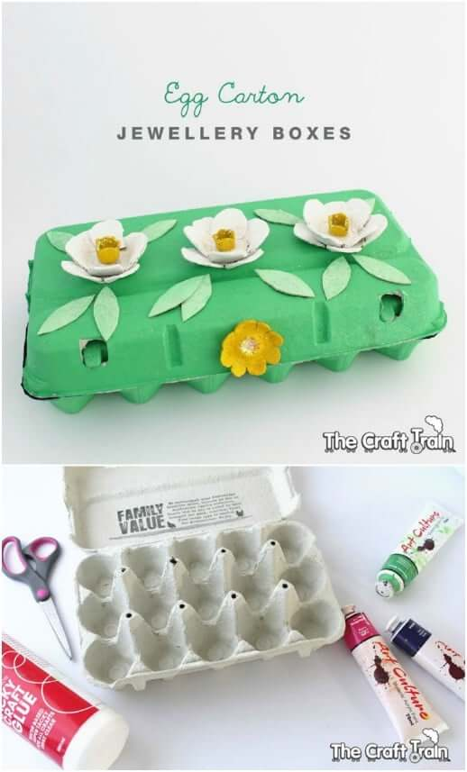 Egg Carton Jewellery Boxes Easy Mother's Day Gifts Ideas Kids Can Make