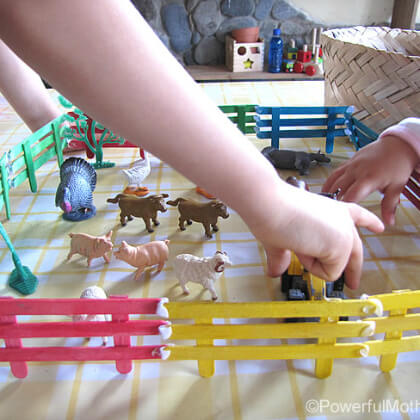 Stick Fencing For Animal Play Easy Popsicle Stick Crafts & Activities for Kids
