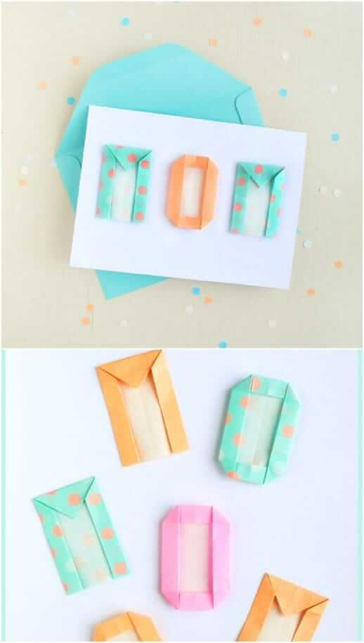 Mother's Day Card with ORIGAMI Letters Easy Mother's Day Gifts Ideas Kids Can Make