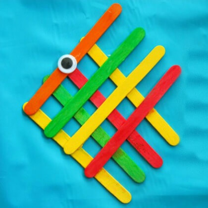 Angle fish Popsicle Stick Craft Work Easy Popsicle Stick Crafts & Activities for Kids