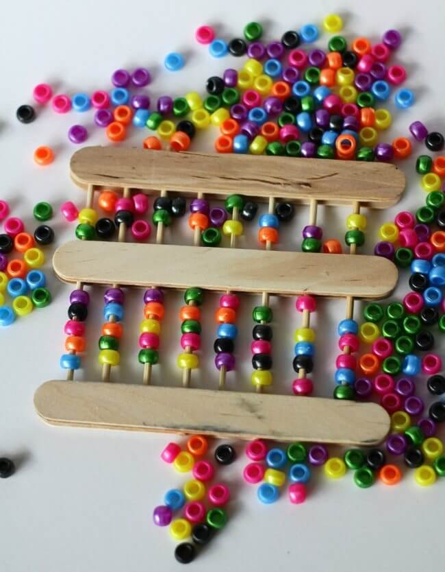 An amazing Abacus Easy Popsicle Stick Crafts & Activities for Kids