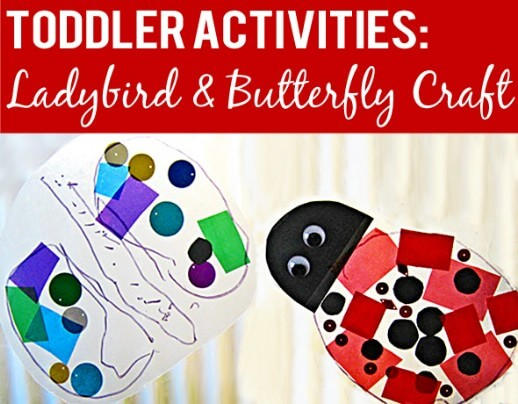 Ladybird & Butterfly Crafts Easy Mother's Day Gifts Ideas Kids Can Make