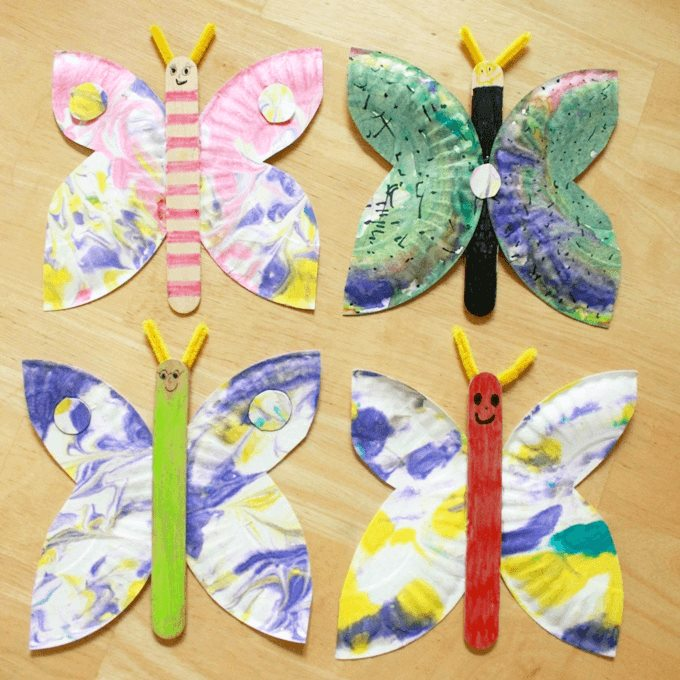 Beautiful paper plate butterflies Cute Butterfly Crafts and Art Activities for Kids