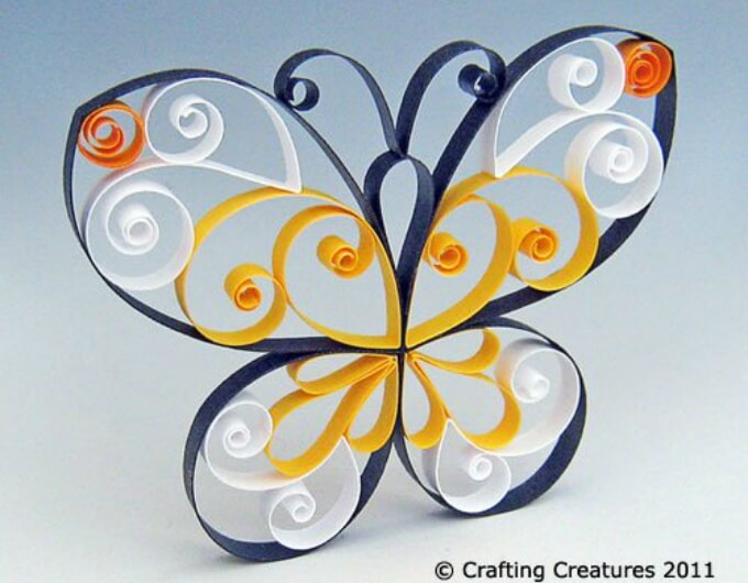 Quilling technique butterfly design Cute Butterfly Crafts and Art Activities for Kids