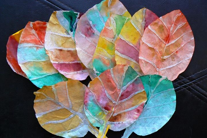 Coffee Filters Glue Gun Leaves Fun Painting Ideas for Kids