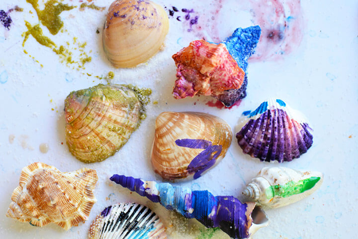Painted Shells Fun Painting Ideas for Kids