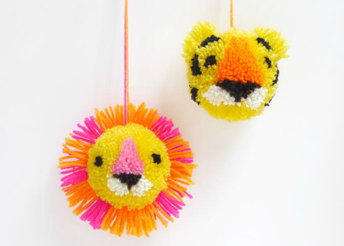 Fierce Tiger Pom Pom Ball