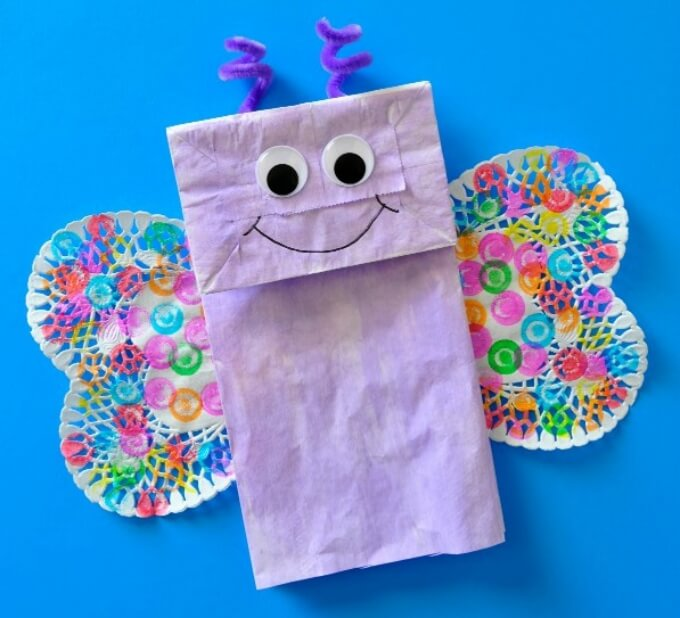 Paper bag butterfly art Cute Butterfly Crafts and Art Activities for Kids