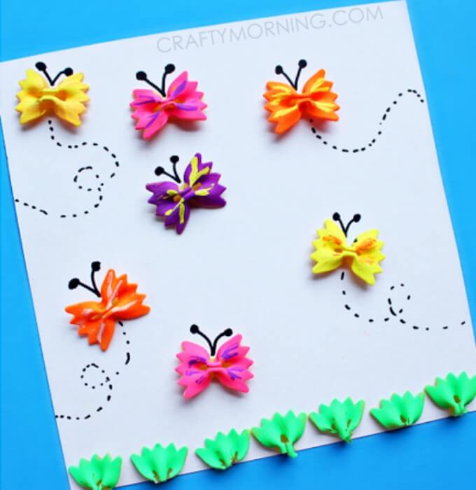 Beautiful butterfly design card Cute Butterfly Crafts and Art Activities for Kids