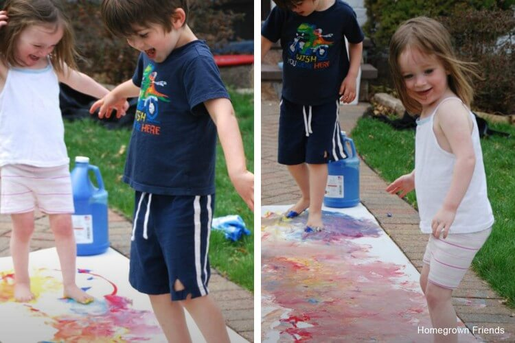 Painting with Feet Fun Painting Ideas for Kids