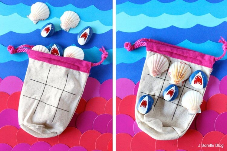 Painted Rocks and Shells Tic tac toe Fun Painting Ideas for Kids