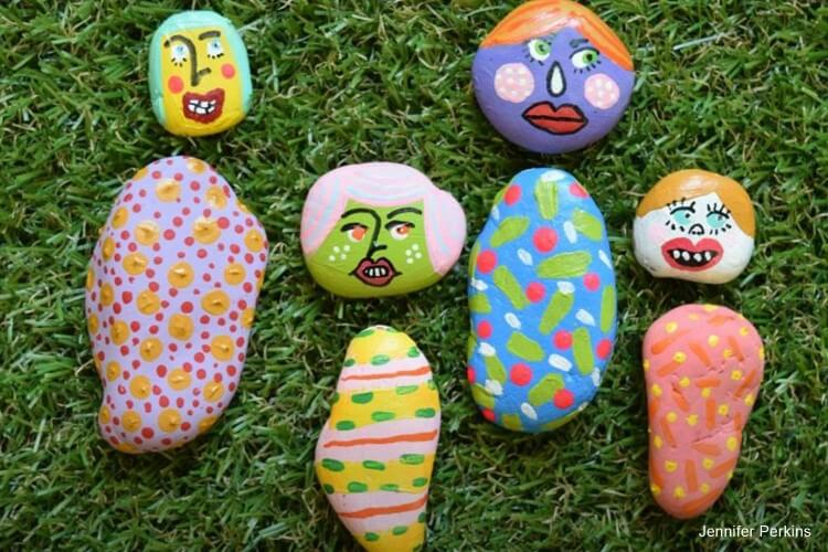 DIY Painted Rock Paper Dolls  Fun Painting Ideas for Kids