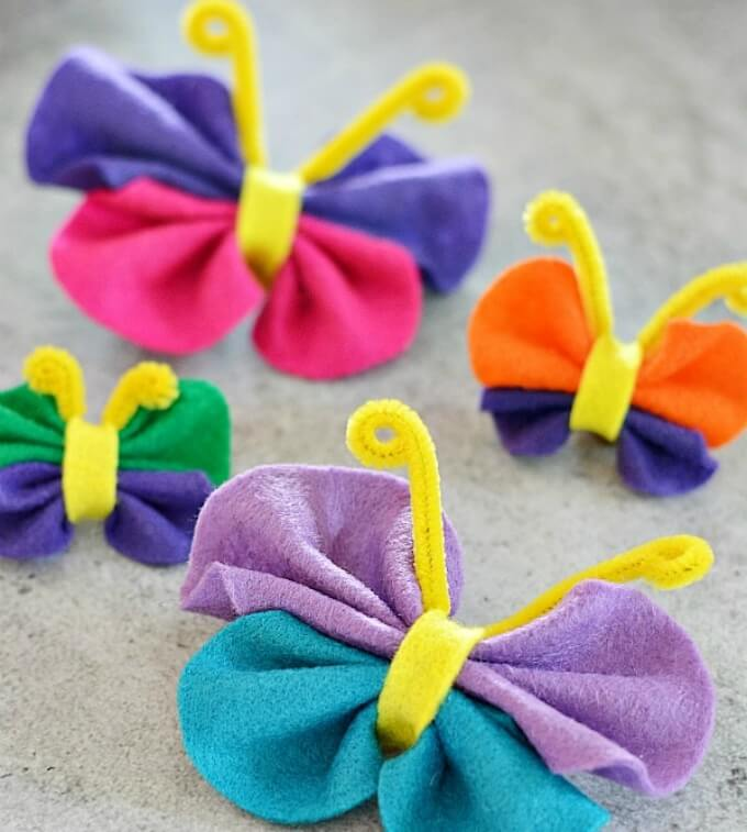 No sew felt butterfly craft Cute Butterfly Crafts and Art Activities for Kids