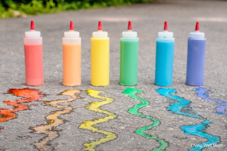 DIY Sidewalk Chalk Paint Fun Painting Ideas for Kids