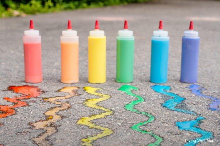 DIY Sidewalk Chalk Paint Fun Painting Ideas for Kids