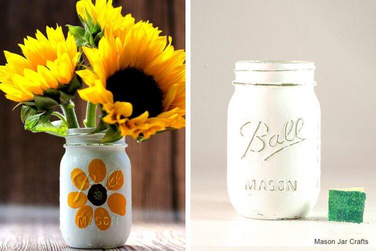 Thumbprint Mason Jar Craft Fun Painting Ideas for Kids