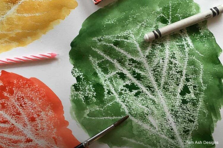 Watercolor Special Effects- Wax Resist Fun Painting Ideas for Kids