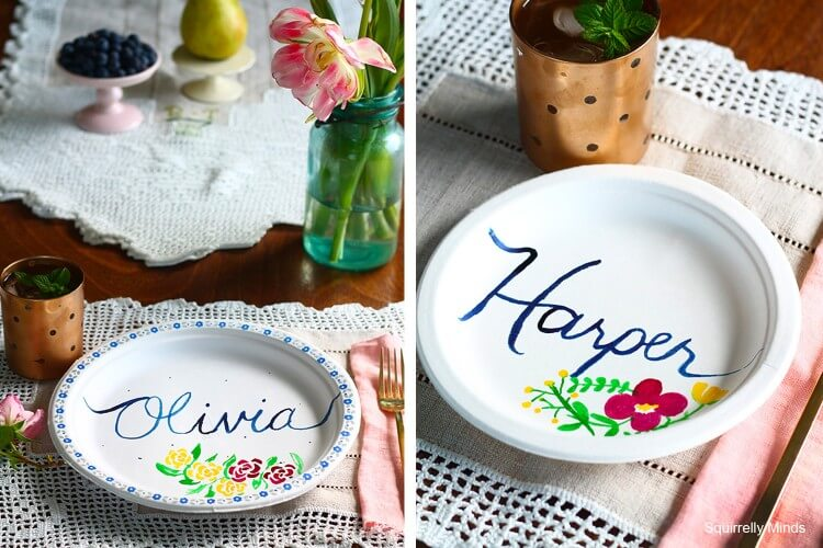 DIY Food coloring Painted Plates Fun Painting Ideas for Kids