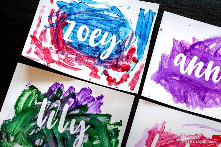 Name Painting Crafts Fun Painting Ideas for Kids