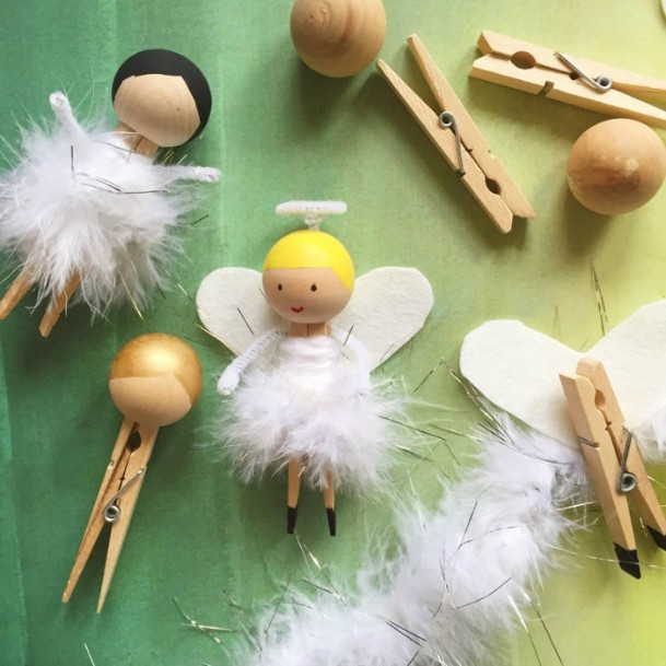 Adorable Angels Clothespin DIY Cute Clothespin Crafts For Kids