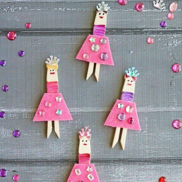 Clothespin Ballerinas DIY Cute Clothespin Crafts For Kids