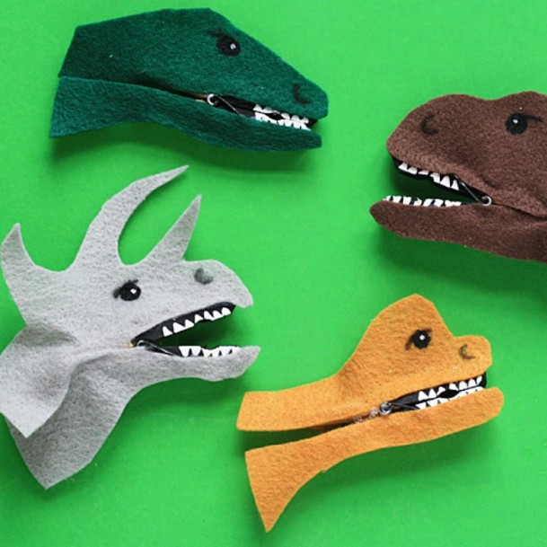 Clothespin Dinosaurs DIY Cute Clothespin Crafts For Kids