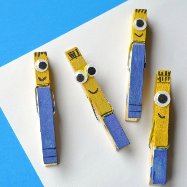 Slim Minions Clothespins DIY Cute Clothespin Crafts For Kids
