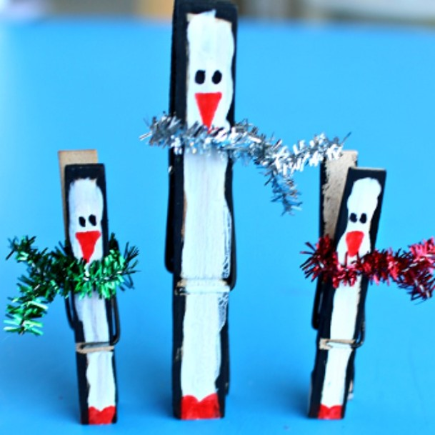 Clothespin Penguins DIY Cute Clothespin Crafts For Kids