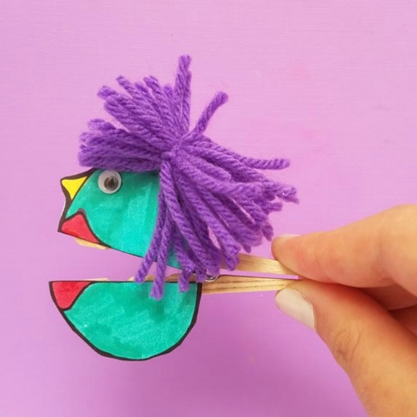 Clothespin Talking Puppets DIY Cute Clothespin Crafts For Kids