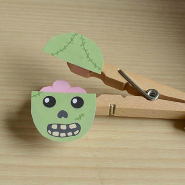 Clothespin Zombie Puppet DIY Cute Clothespin Crafts For Kids