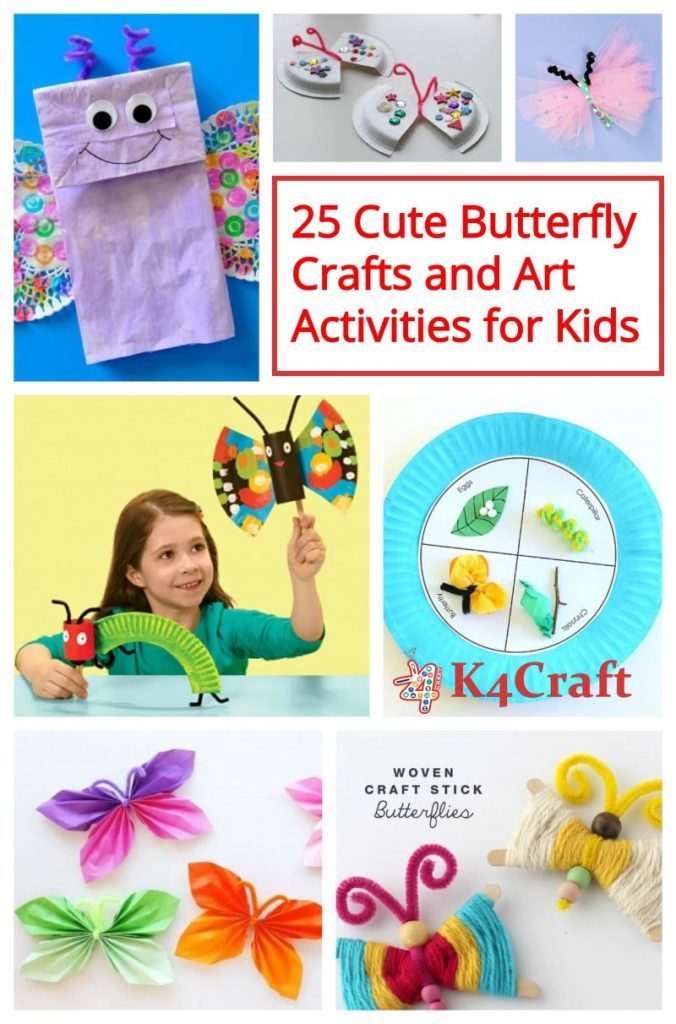 25 Cute Butterfly Crafts and Art Activities for Kids to make in Spring Season