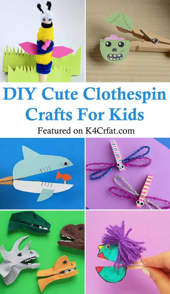 DIY Cute Clothespin Crafts For Kids