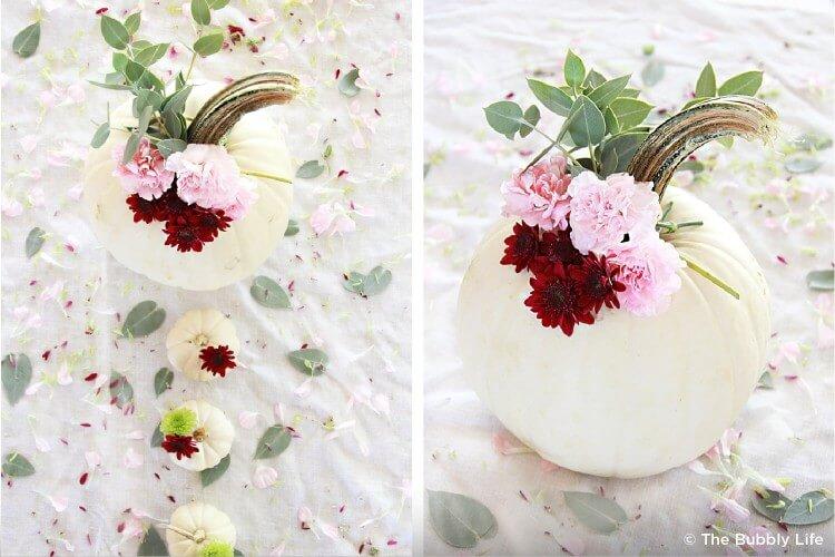 Flowery pumpkin set