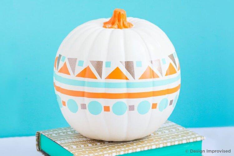 Geometric designer pumpkins