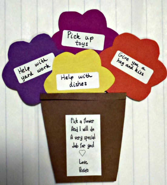 Helping Card - Mother's Day Craft Ideas For Kids