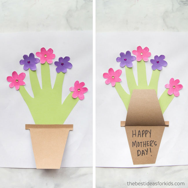 Easy To Make A Flower Pot Message Card