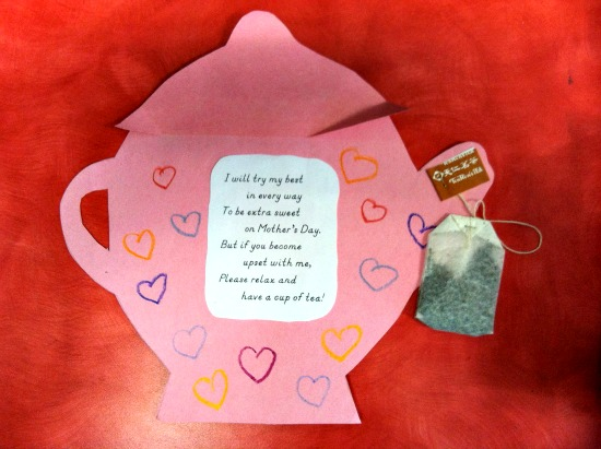 Teapot Poem Card