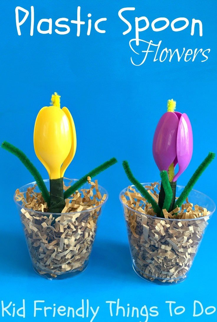 Plastic Spoon Flowers - Mother's Day Craft Ideas For Kids