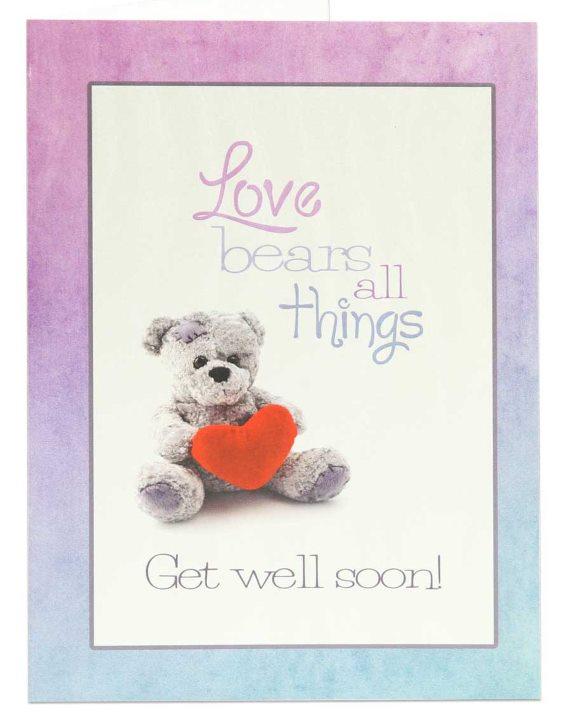 "Teddy bear Get Well Soon wishes Beautiful DIY ""Get Well Soon"" Card Ideas"