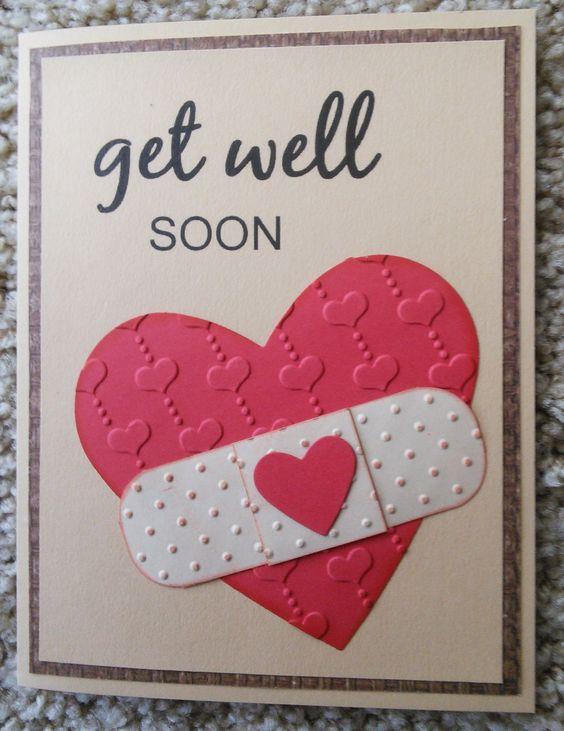 "Heart design Get Well Soon Beautiful DIY ""Get Well Soon"" Card Ideas"