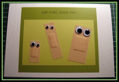 "Googly eyed Band-aid Get well Soon Card Beautiful DIY ""Get Well Soon"" Card Ideas"