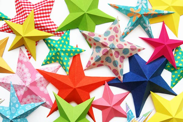 Beautiful Stars for birthday crafts Birthday Party Craft Ideas