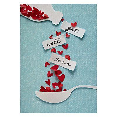 "Heart Shower Get Well soon Card Beautiful DIY ""Get Well Soon"" Card Ideas"