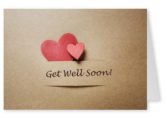 """Beautiful Heart Get Well Soon card Beautiful DIY """"Get Well Soon"""" Card Ideas"""