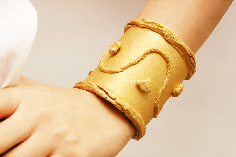 Beautiful Bracelet With Recycled Paper