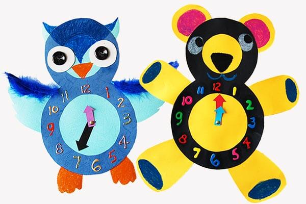 Spring craft clocks