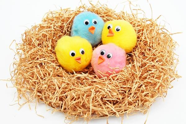 Chicks in a nest craft ideas spring